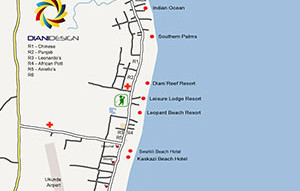 Diani Beach Map